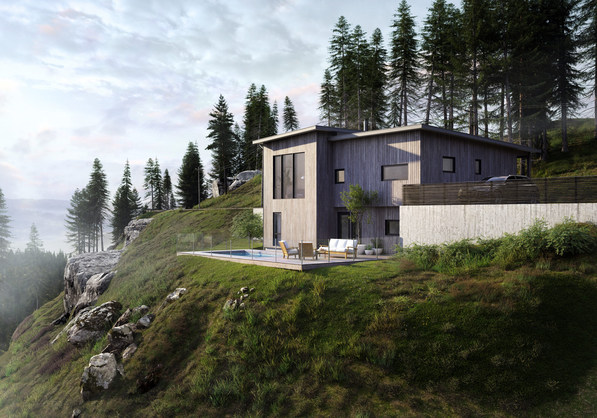 Hellvik-Hus 3d exterior images by Cadesign form
